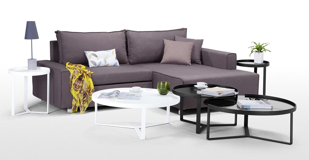 table basse ronde en m tal et verre. Black Bedroom Furniture Sets. Home Design Ideas