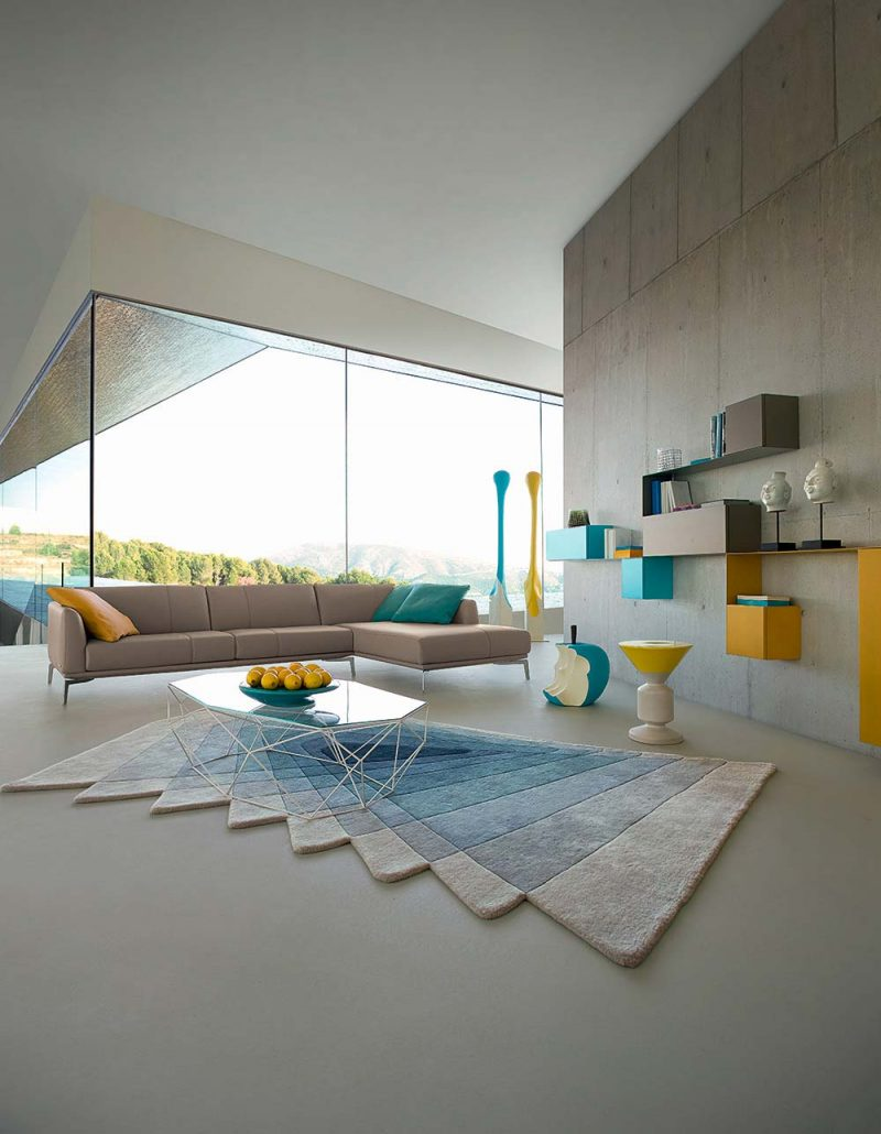 table basse en verre et m tal par roche bobois. Black Bedroom Furniture Sets. Home Design Ideas
