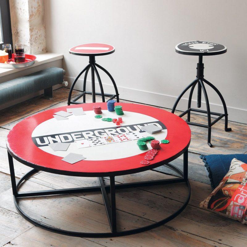 table basse ronde. Black Bedroom Furniture Sets. Home Design Ideas