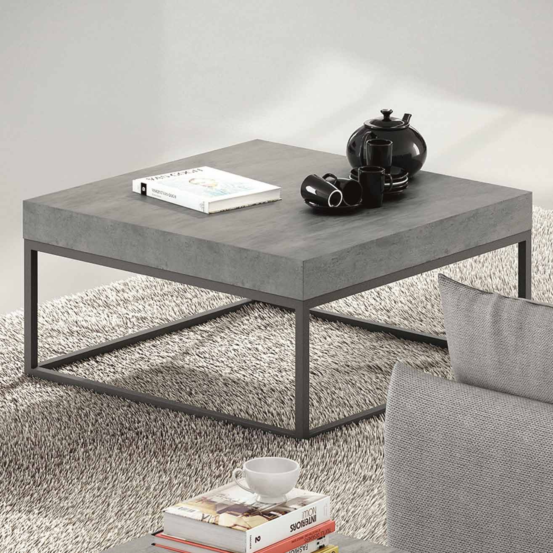 Table basse avec plateau effet b ton - Table basse delamaison ...