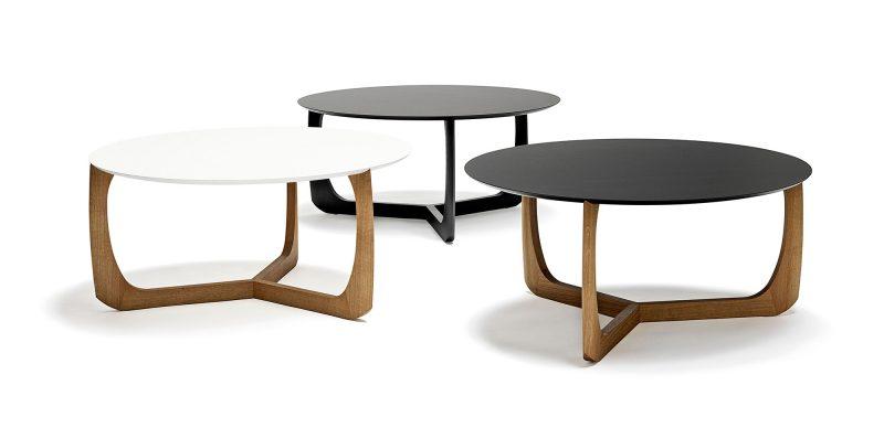 table basse ronde en bois scandinave. Black Bedroom Furniture Sets. Home Design Ideas