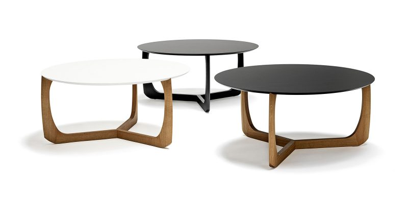Table basse ronde en bois Scandinave