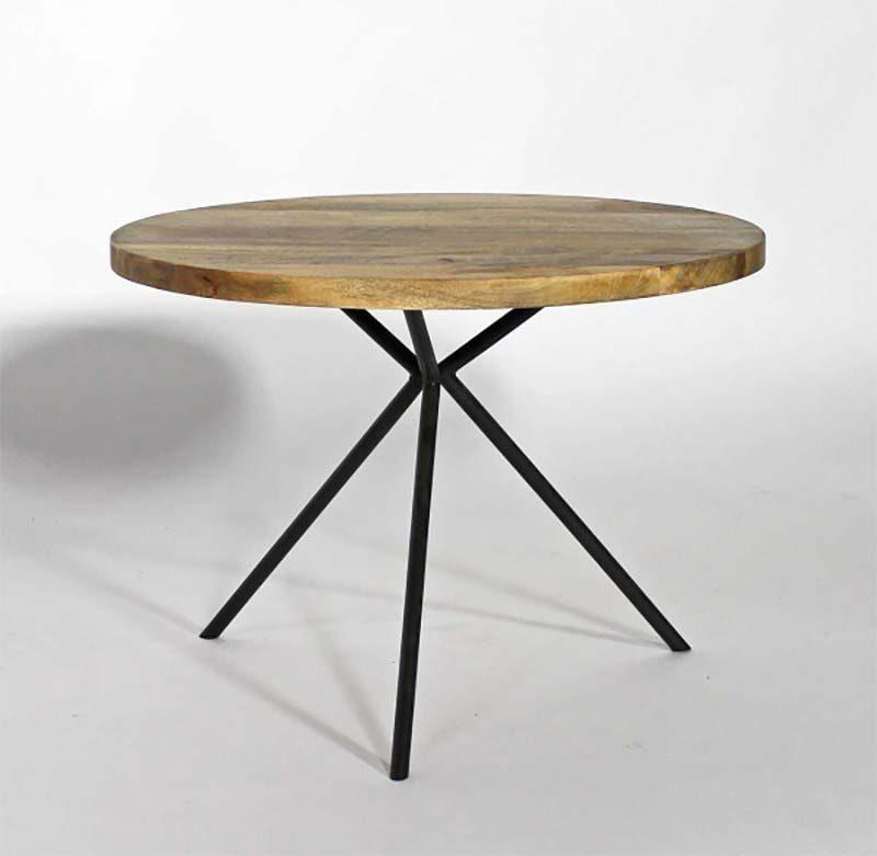 Table basse ronde en manguier