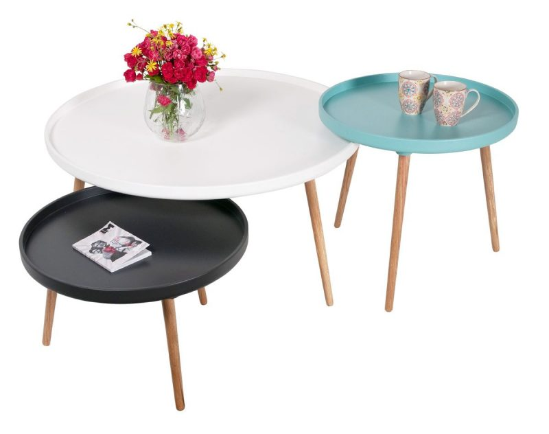 Table basse bois 3 pieds images - Table basse ronde but ...