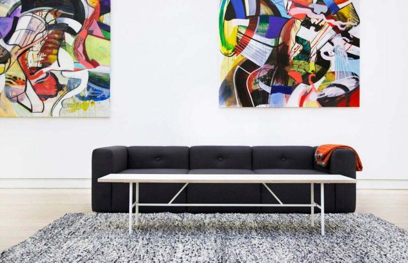 Table basse au design scandinave par Hay