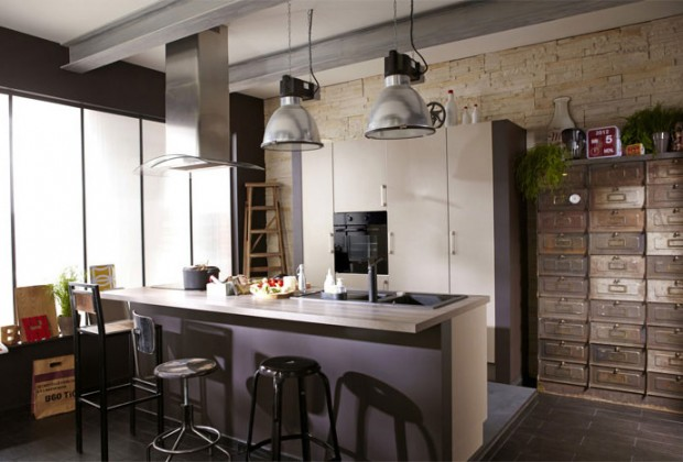 Cuisine bar cuisine bars - Suspension industrielle leroy merlin ...
