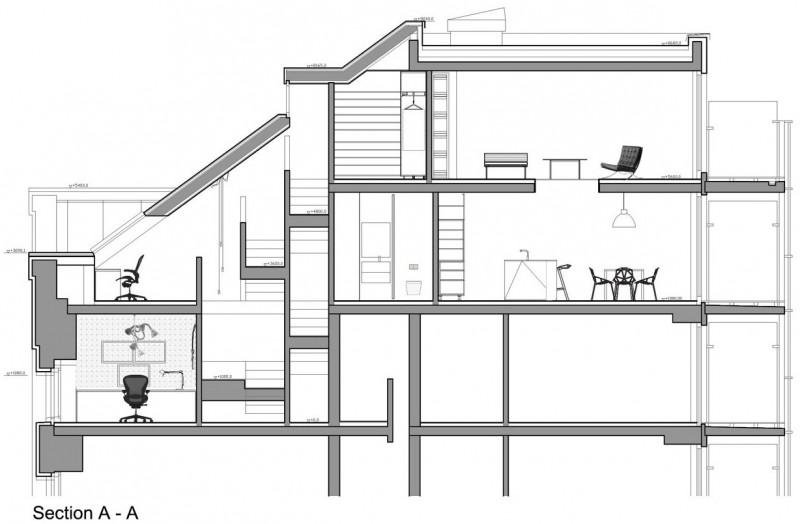 Loft prague par b2architecture - Comment faire un plan en coupe ...