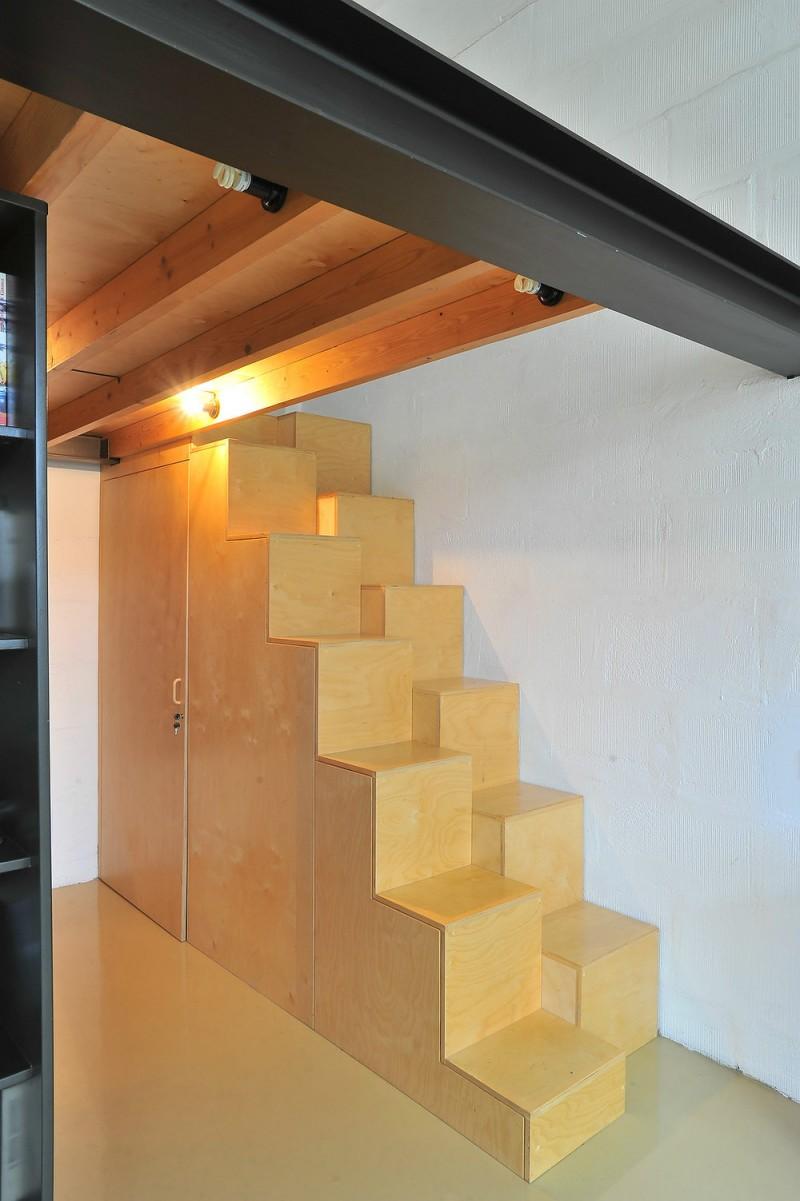 Escalier à demi-marches