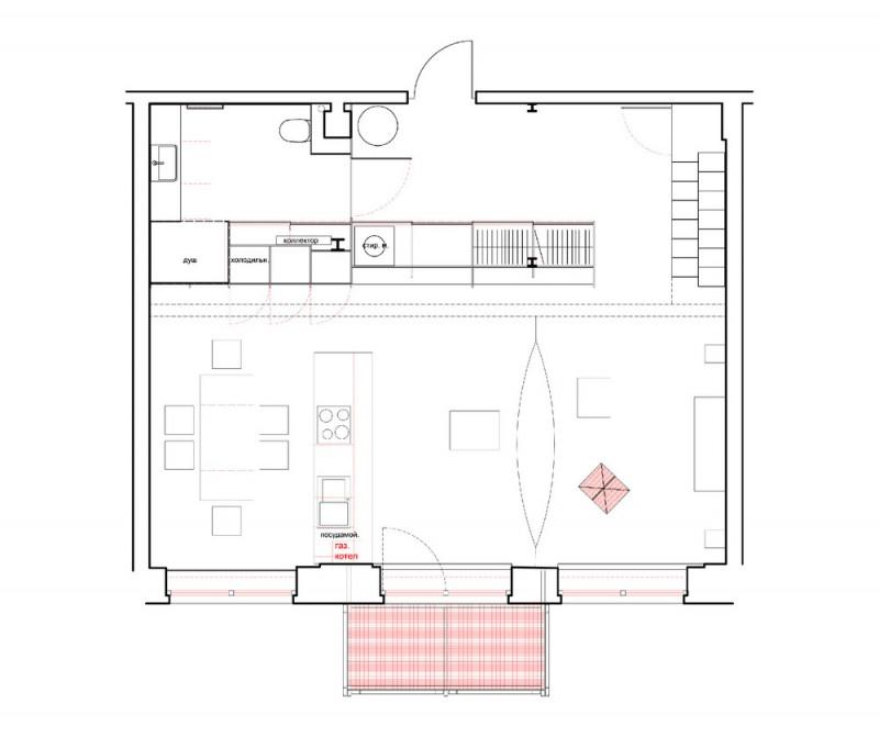 Plan d'un petit loft