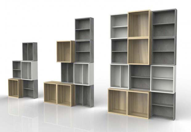 24 id es de biblioth que modulable. Black Bedroom Furniture Sets. Home Design Ideas