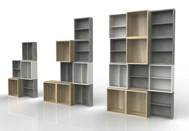 Habitat brick, système de rangement par caisse modulable