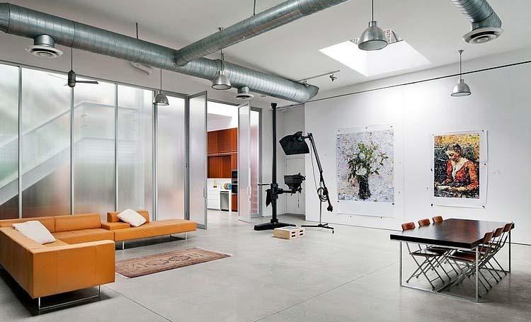 entrep t transform en loft brooklyn. Black Bedroom Furniture Sets. Home Design Ideas