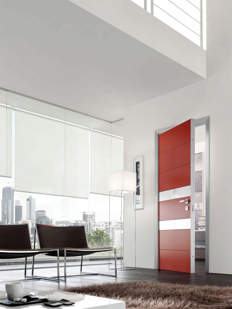 Porte blindée Safedoors rouge