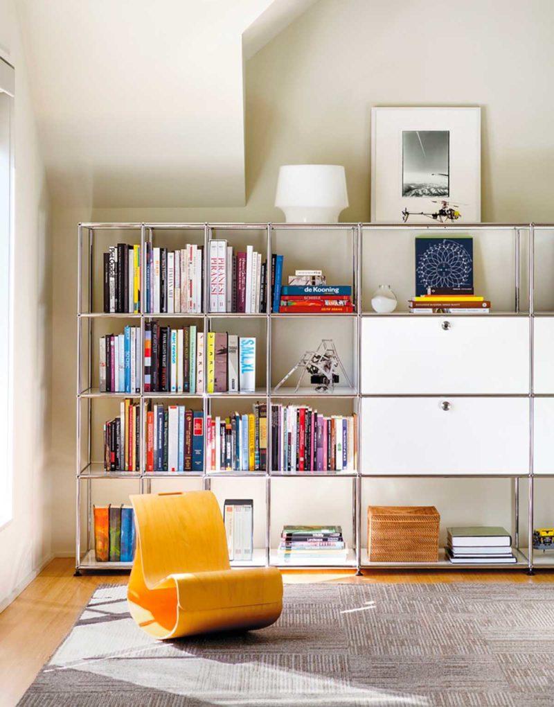 Bibliothèque design USM blanche