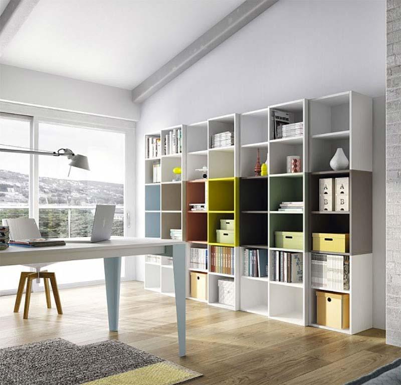 biblioth que modulable multicolore. Black Bedroom Furniture Sets. Home Design Ideas