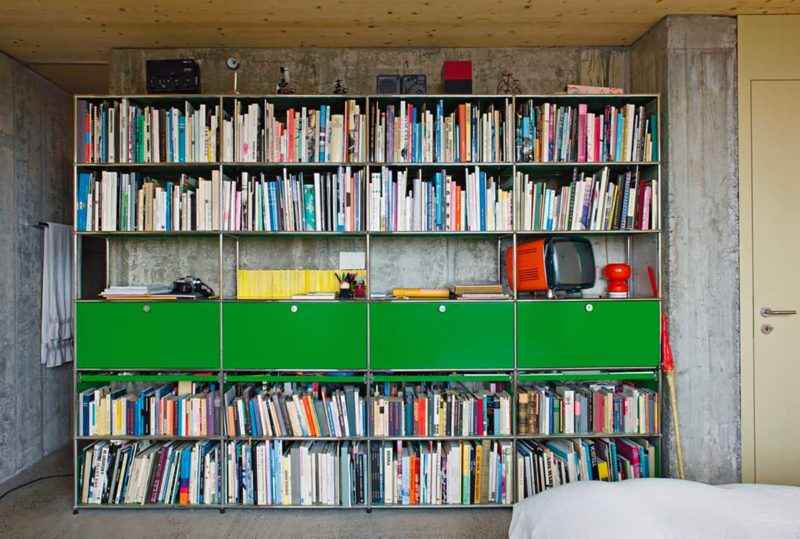 Bibliothèque modulable USM verte