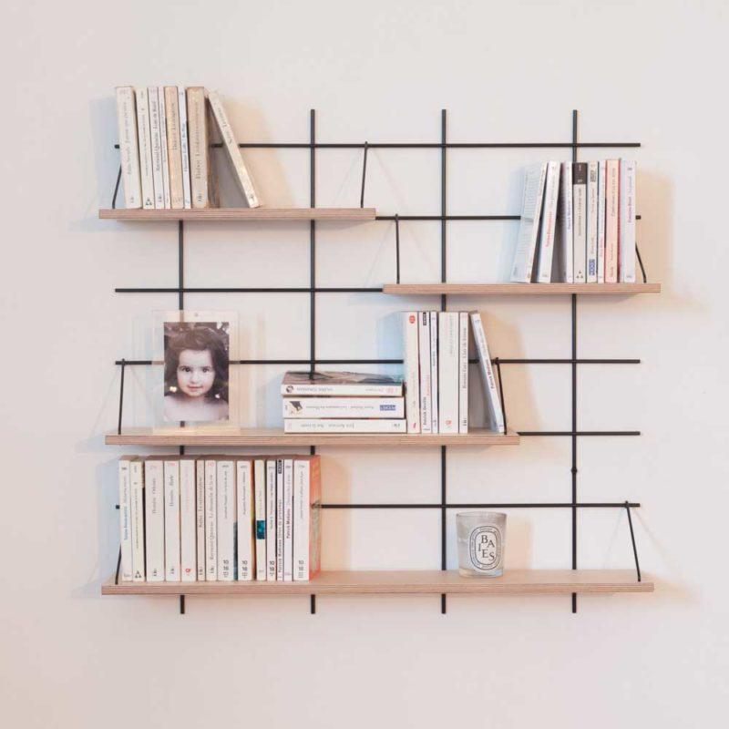 Bibliothèque murale modulable par Gassien