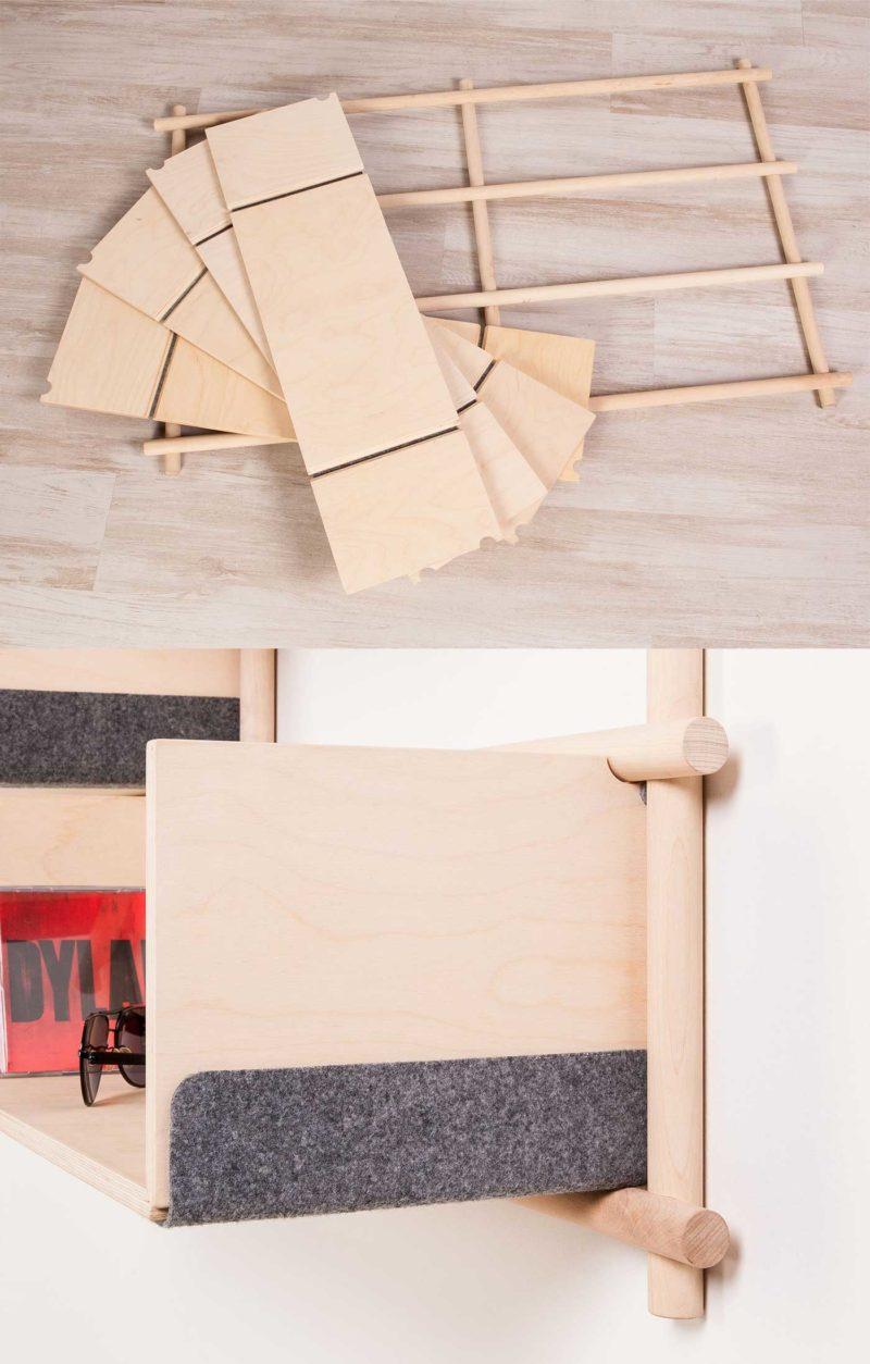 Étagère design modulable en bois