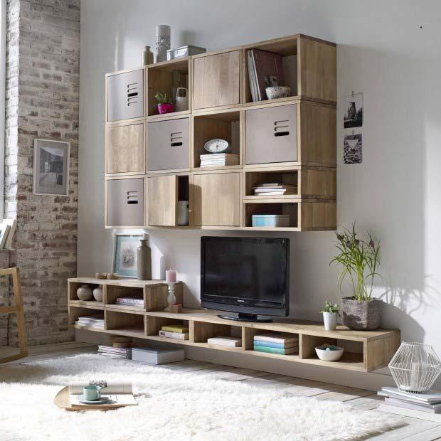 24 id es de biblioth que modulable. Black Bedroom Furniture Sets. Home Design Ideas
