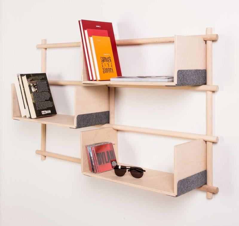 Étagère modulable en bois EMKO