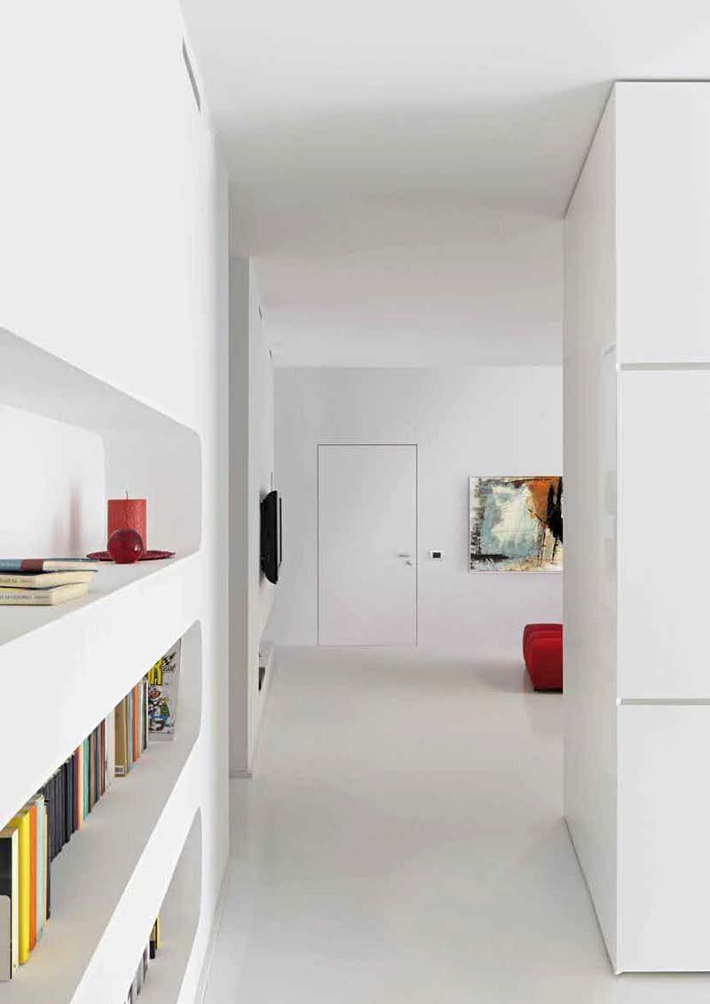 Porte affleurante blanche - Peinture blanche pour porte interieure ...