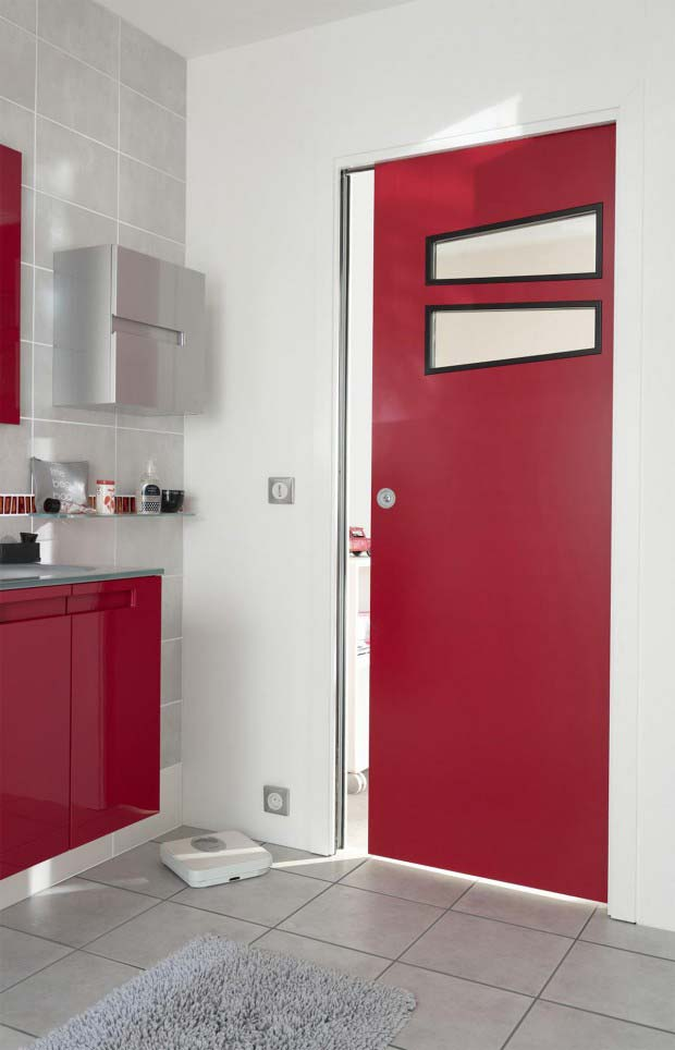 21 id es de couleur de peinture pour vos portes for Porte 15 bordeaux