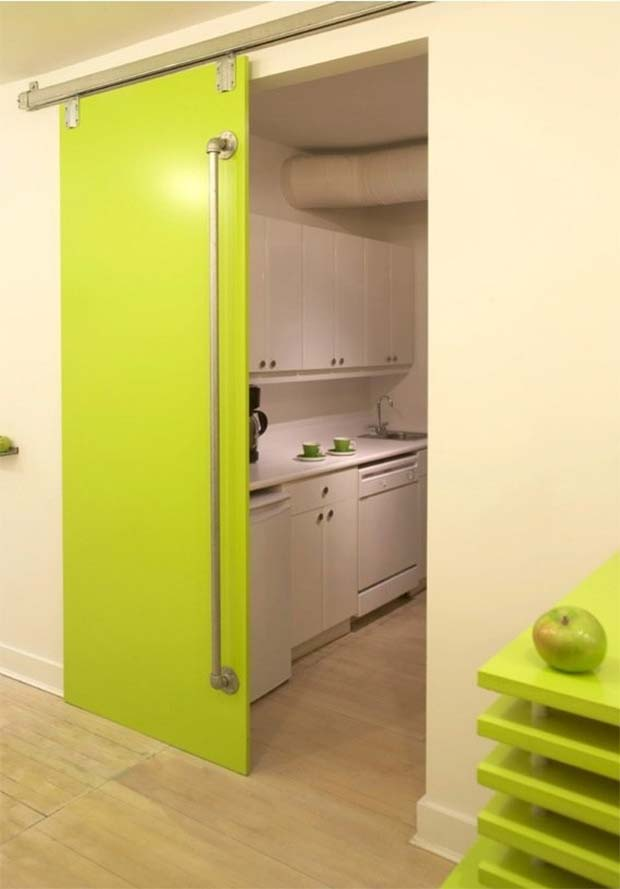 Porte intérieure verte