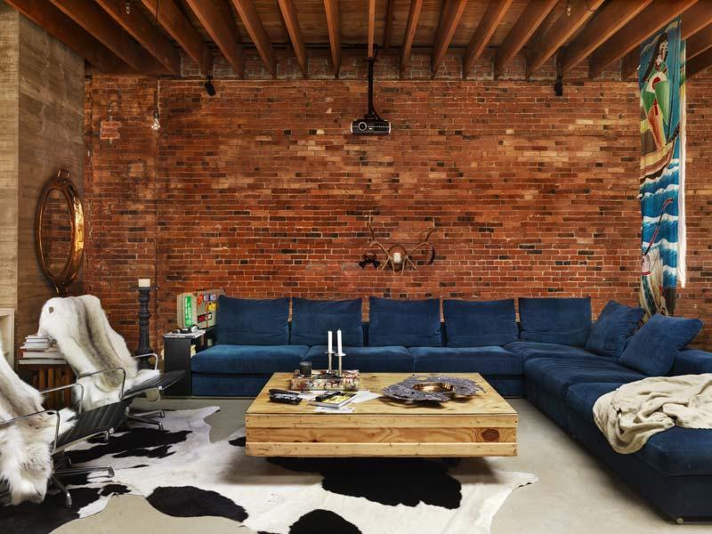 25 id es d co pour habiller un mur - Deco mur de brique salon ...