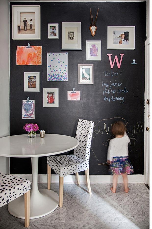 mur avec peinture tableau ardoise