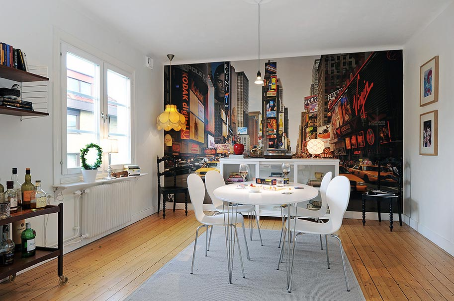 Mur avec poster photo g ant de new york - Decoration interieur new york ...