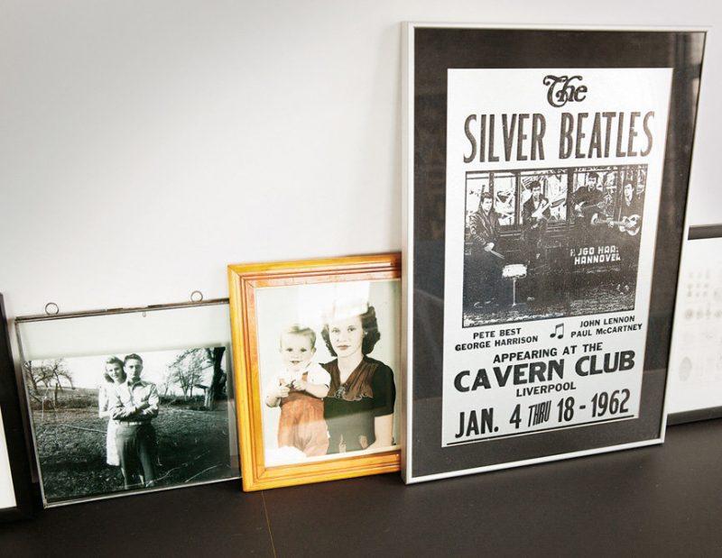 Affiche ancienne de concert des Beatles