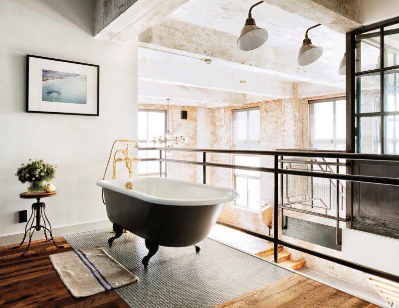 Salle de bains ouverte