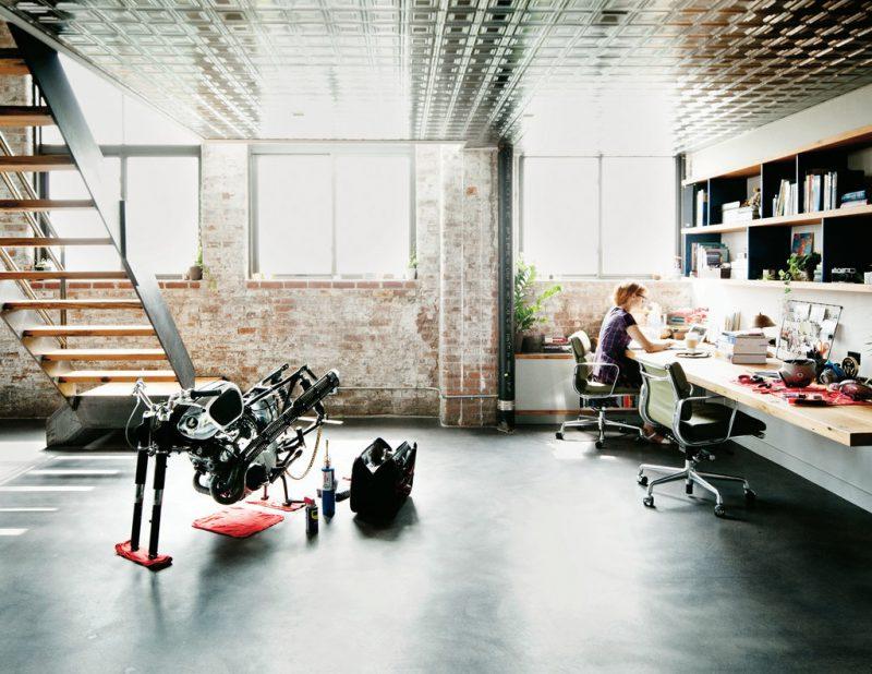 L'espace bureau du loft