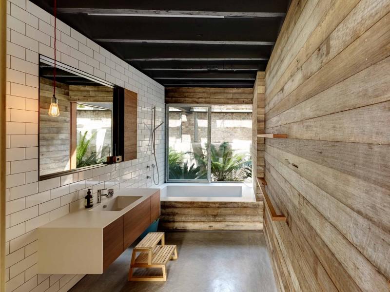 Salle de bains for Salle de bain style loft