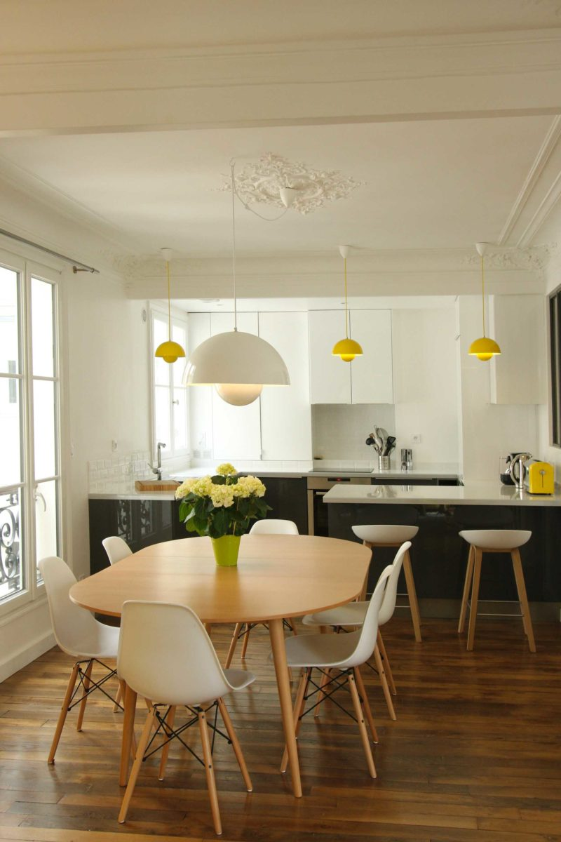 Renovation moderne d'un appartement haussmannien