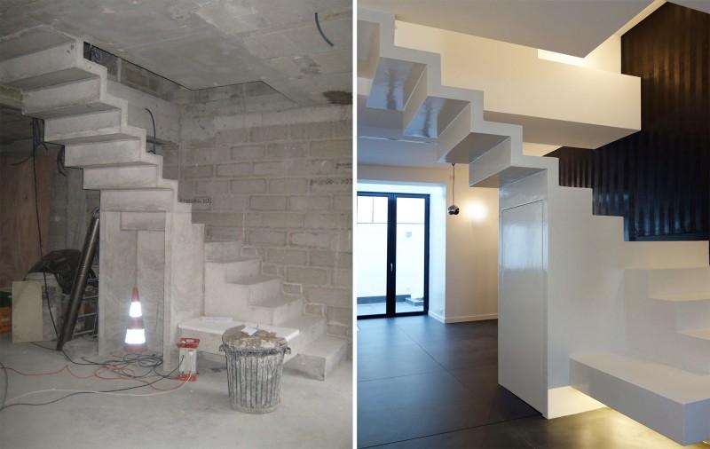 Escalier en b ton cir taloch - Escalier beton cire prix ...