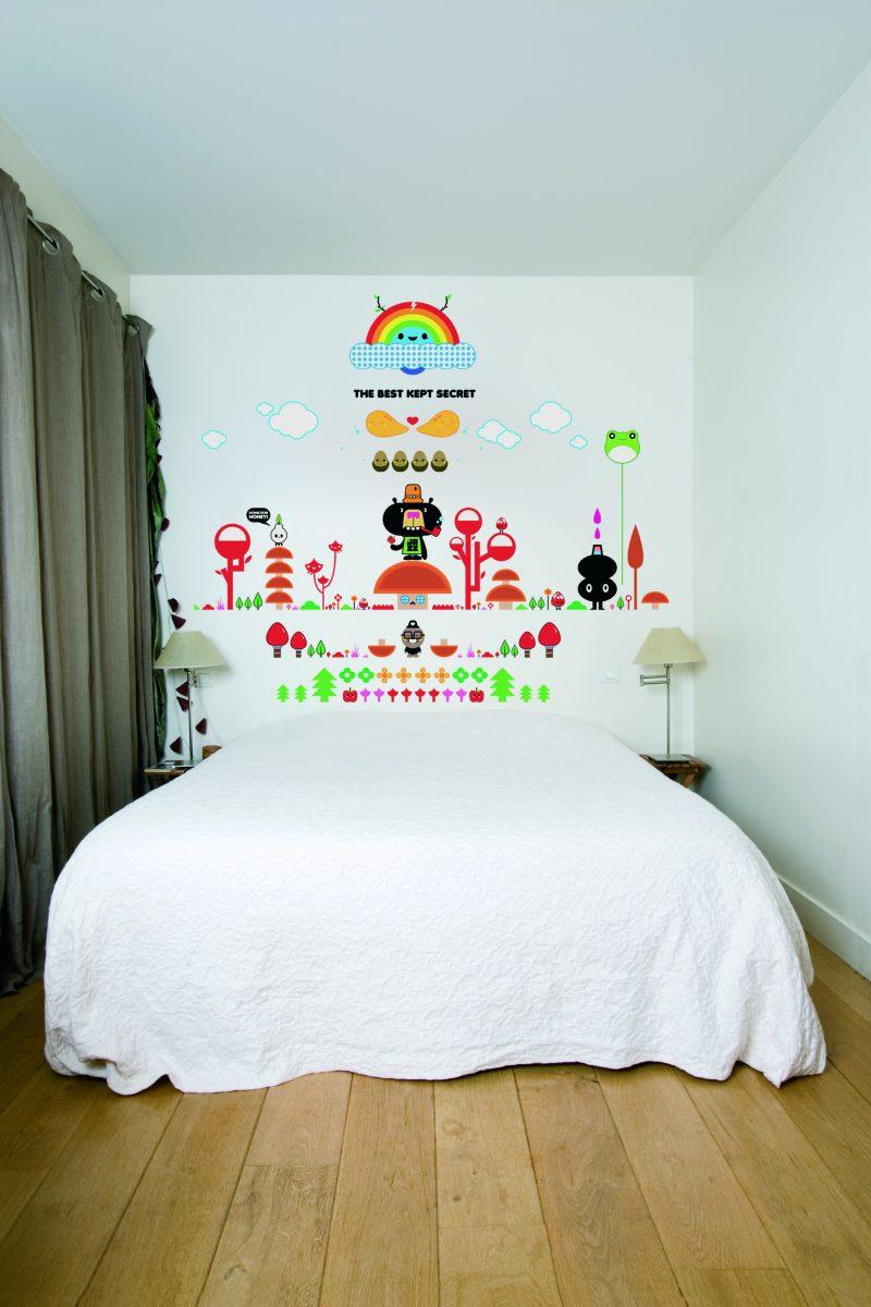 Sticker mural