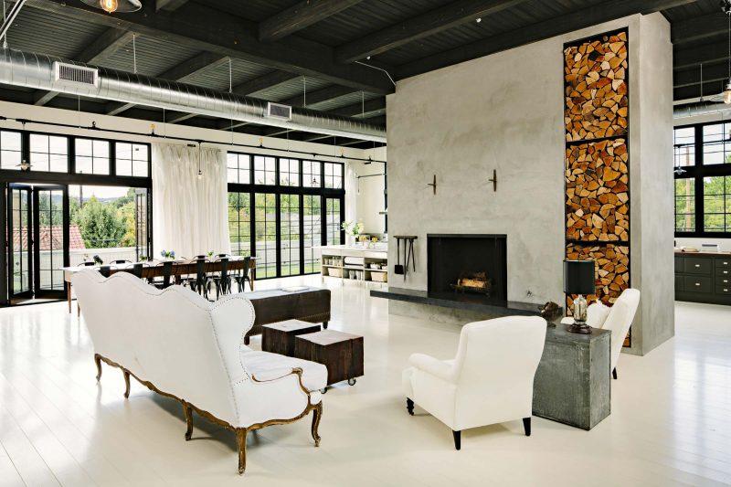 Loft avec mobilier vintage