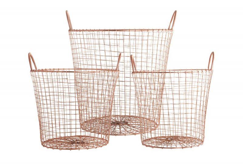 panier b ches en cuivre. Black Bedroom Furniture Sets. Home Design Ideas