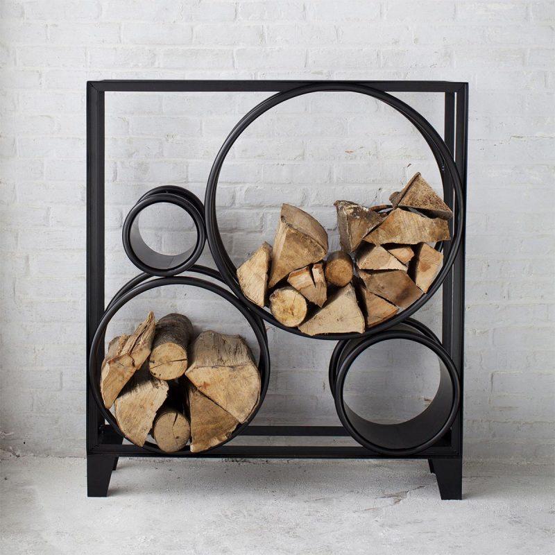 Range b ches int rieur 27 id es d co pour stocker votre bois - Idees de range buche portes panier abris bois de chauffage ...