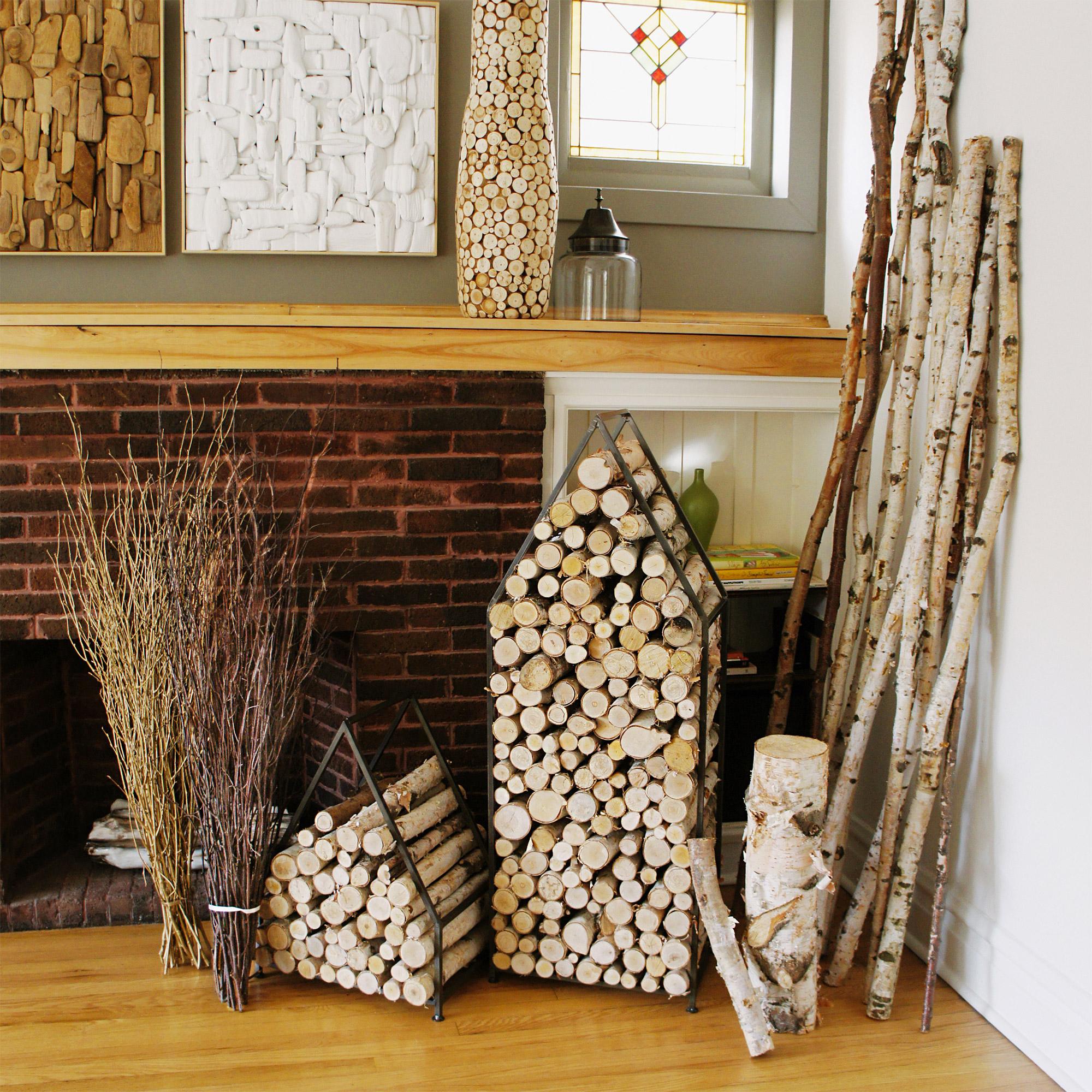 17 id es d co pour ranger les b ches. Black Bedroom Furniture Sets. Home Design Ideas