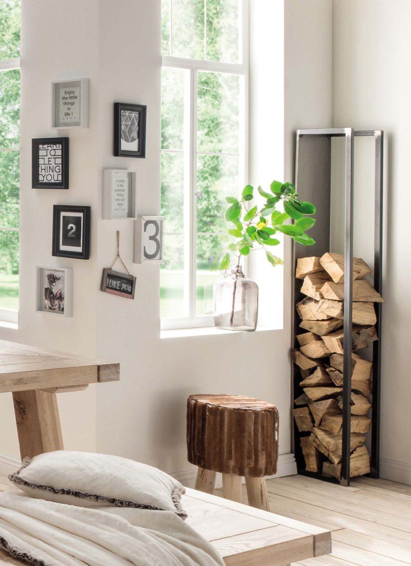 Mur De Rangement Salon range bûches intérieur : 27 idées déco pour stocker votre bois