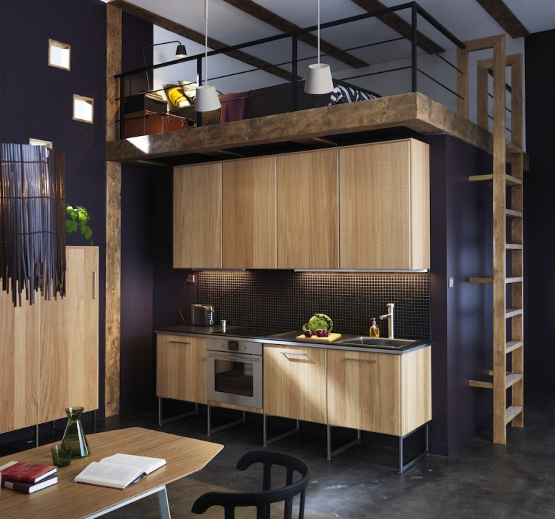 Cuisine Ikea Metod avec façades HYTTAN