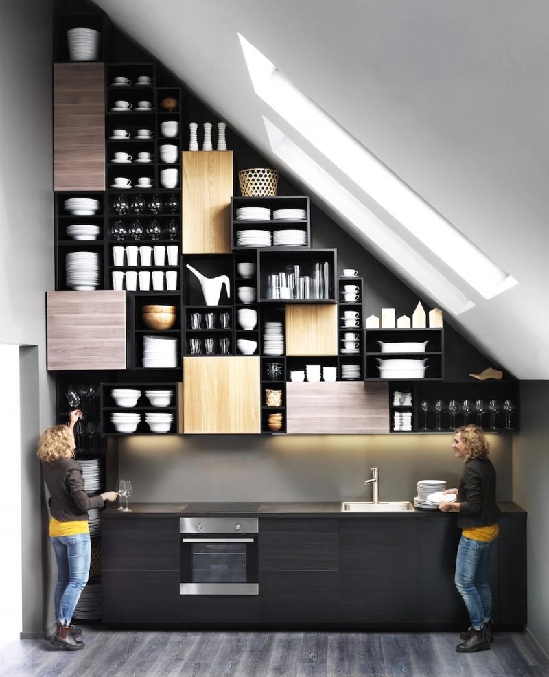 Cuisine Ikea Metod avec façades HYTTAN et BROKHULT