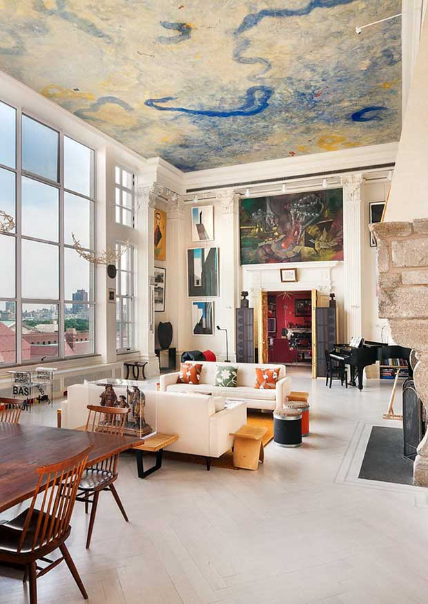 Un loft au d cor de ch teau new york ludivine clavel for Interieur loft new york