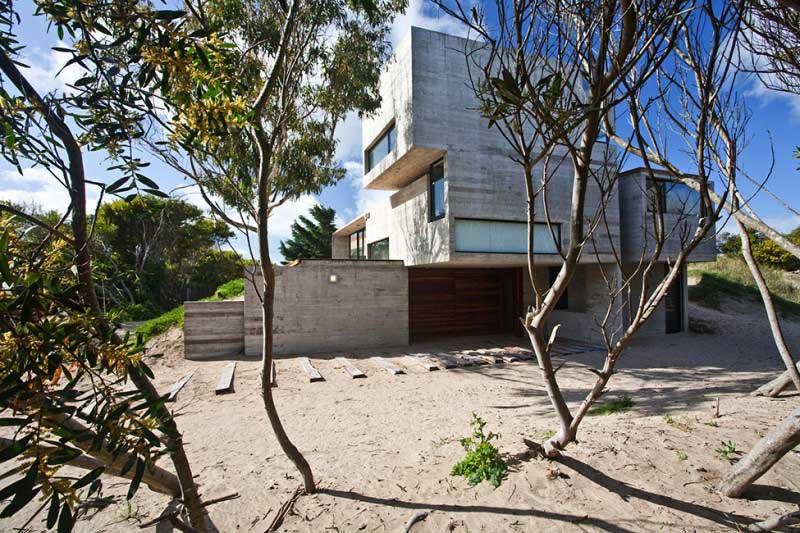 Maison en beton en Argentine