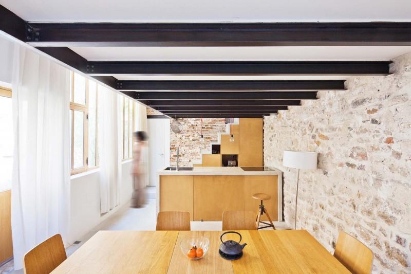 Atelier transformé en loft