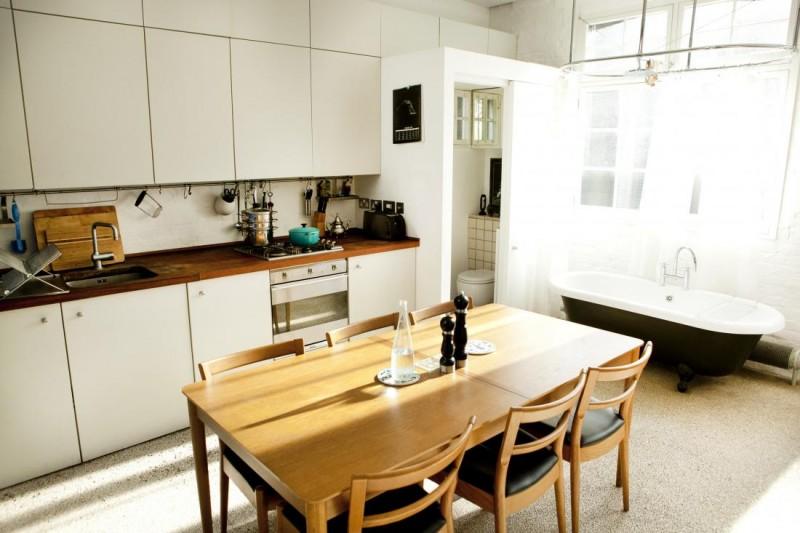La cuisine et la salle à manger