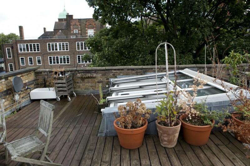 Toiture terrasse avec verrière