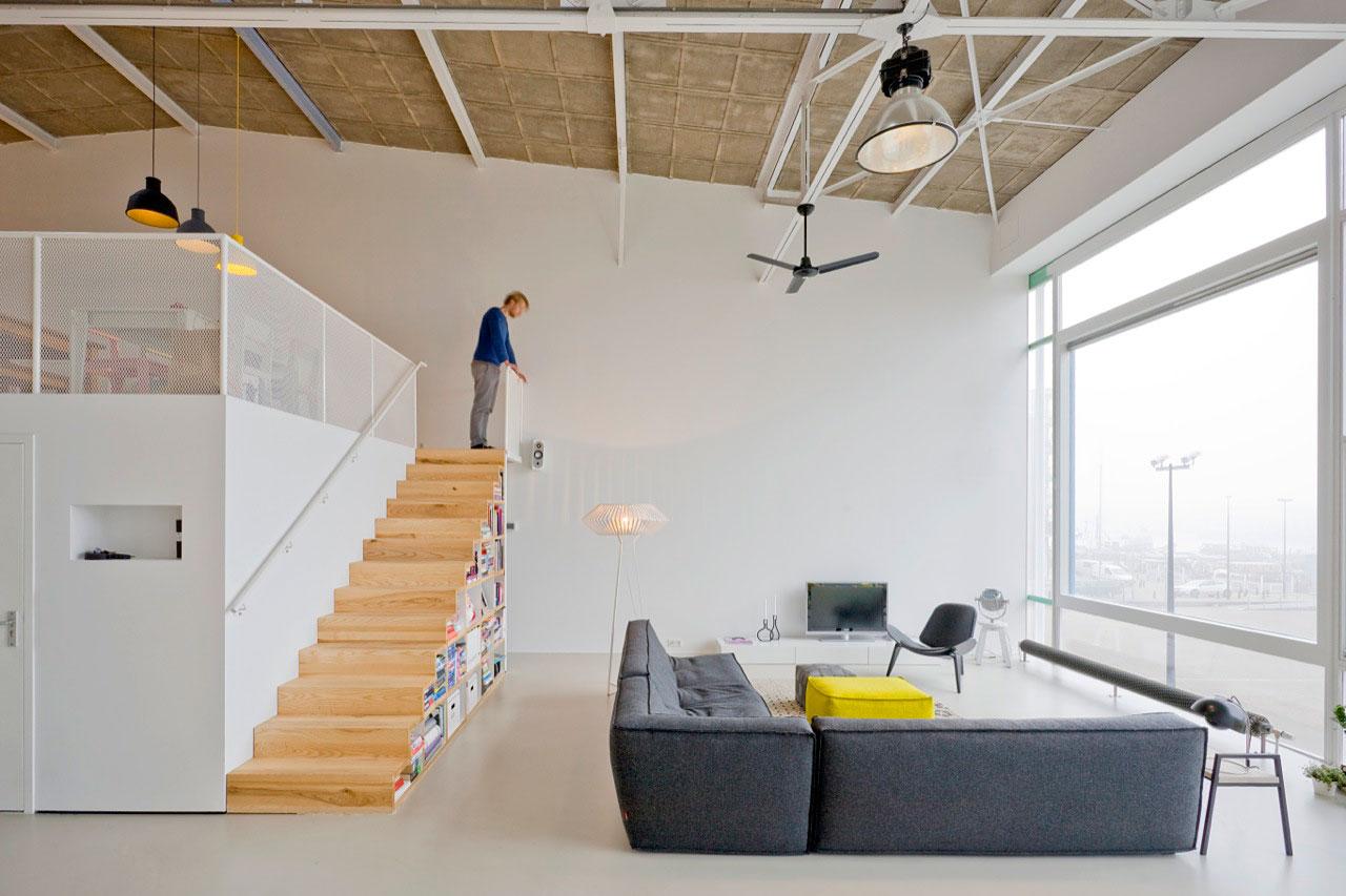 Une ancienne cantine transformée en loft à Amsterdam